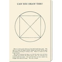 Global Gallery Retromagic 'Can You Draw This?' Stretched Canvas Art - Multi