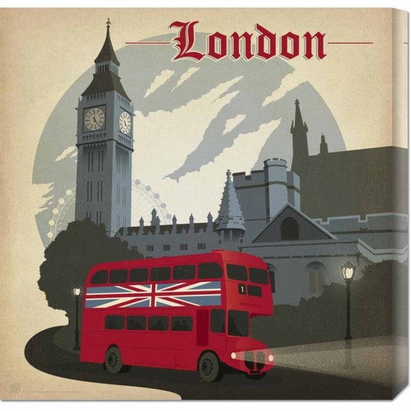 Global Gallery 'London Square' Stretched Canvas Art
