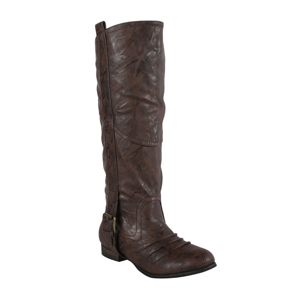 Liliana by Beston Women's 'Marsala' Brown Riding Boots