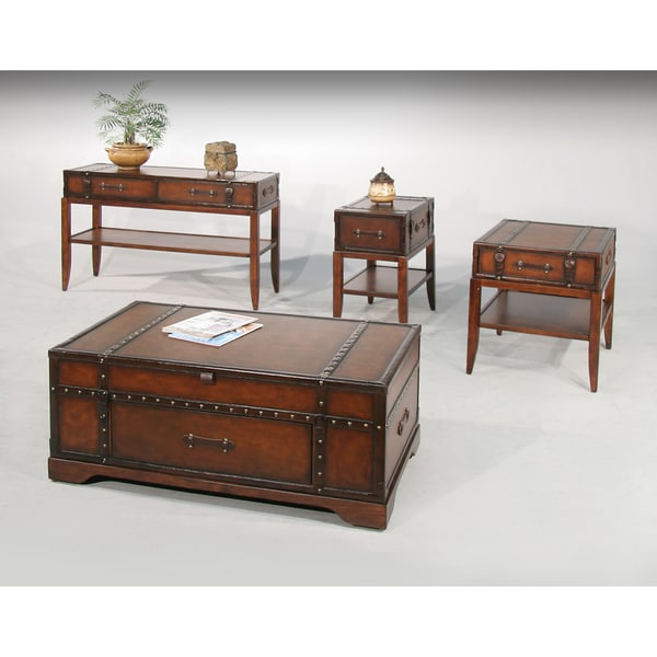 Gracie Leather 4-piece Occasional Table Set