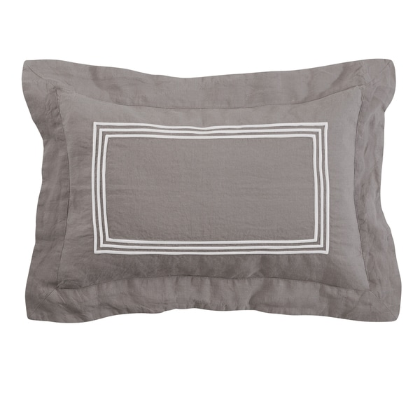 Roxbury Park Baratto Graphite With Ivory Tim Decorative Pillow