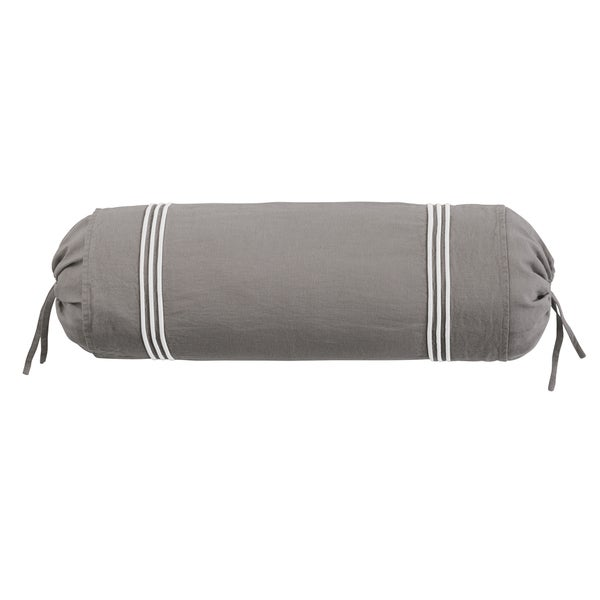 Roxbury Park Baratto Graphite With Ivory Trim Neck Roll Decorative Pillow - Free Shipping On ...