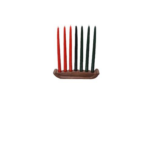 Handmade Kwanzaa Candles, Set of 7 (Ghana)
