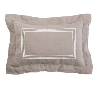 Roxbury Park Baratto Linen Prarie With Ivory Trim Decorative Pillow