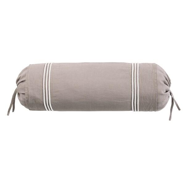Roxbury Park Barrato Linen Prarie Ivory Neck Roll Decorative Pillow