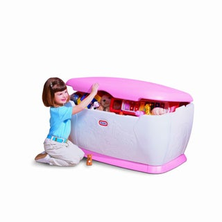 Shop Little Tikes Giant Pink Toy Chest Free Shipping