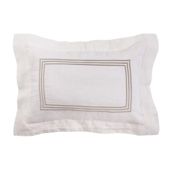 Roxbury Park Baratto Linen Ivory Prairie Decorative Pillow