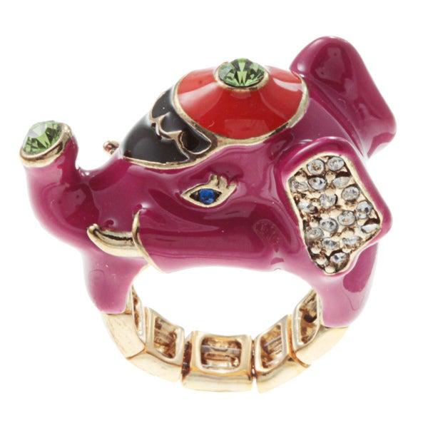 Betsey Johnson Elephant Wrap Fashion Ring