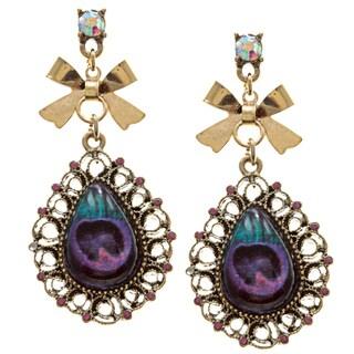 Betsey Johnson Cubic Zirconia Peacock Earrings