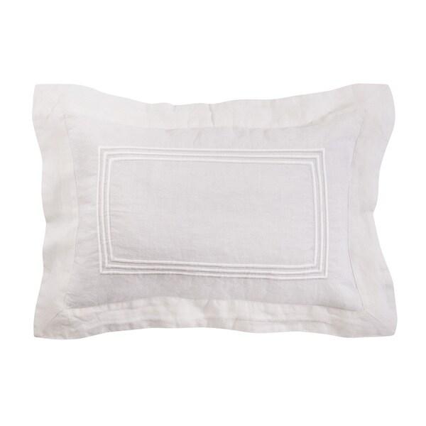 Roxbury Park Baratto Linen Ivory on Ivory Decorative Pillow