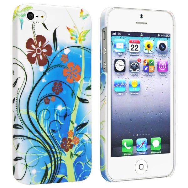 BasAcc Flower Rear Style 39 Rubber Coated Case for Apple iPhone 5/ 5S