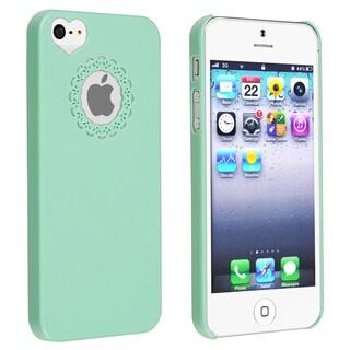 INSTEN Mint Green Sweet Heart Rear Snap-on Phone Case for Apple iPhone 5/ 5S/ 5C/ SE
