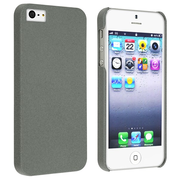 BasAcc Grey Quicksand Snap-on Case for Apple iPhone 5