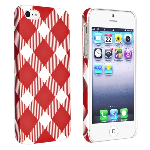 BasAcc Checkered Rear Style 5 Rubber Coated Case for Apple iPhone 5