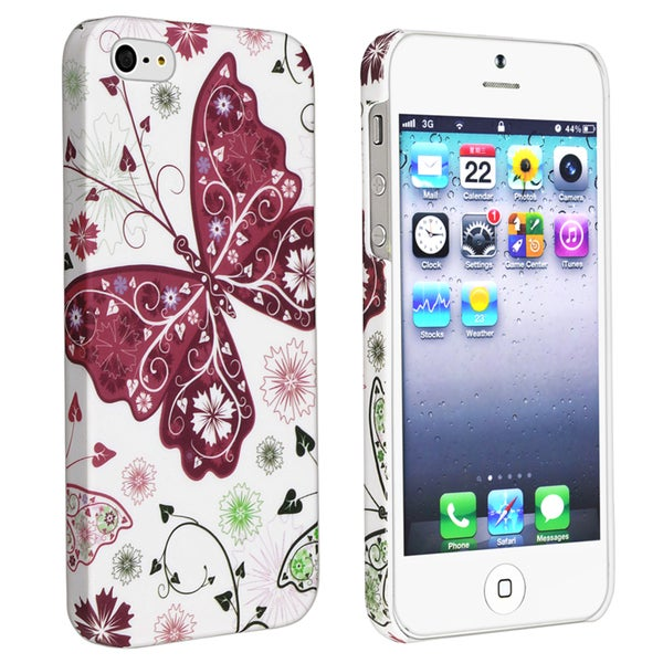 BasAcc Butterfly Rear Style 13 Rubber Coated Case for Apple iPhone 5
