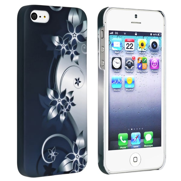 BasAcc Blue/ White Flower Rear Style 38 Coated Case for Apple iPhone 5