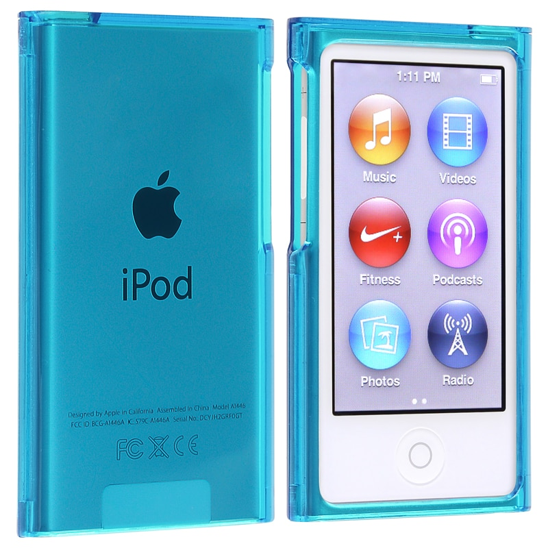 Insten Blue Clear Hard Snap-on Crystal Case Cover For App...