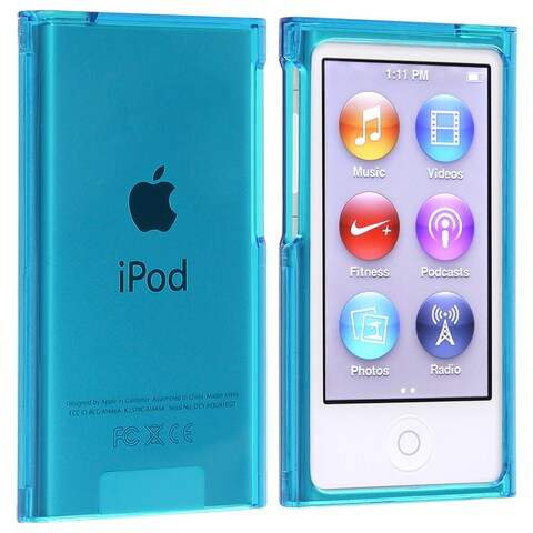 Insten Blue Clear Hard Snap-on Crystal Case Cover For Apple iPod Nano 7th Gen