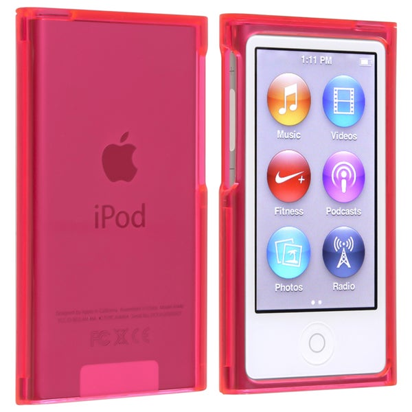BasAcc Clear Hot Pink TPU Case for Apple iPod Touch 5th Generation