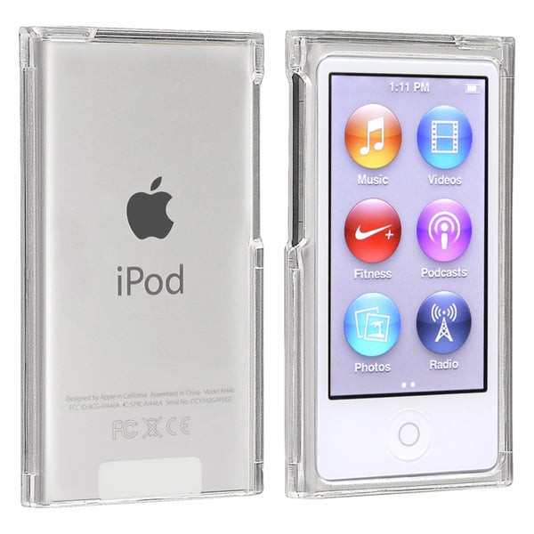 insten clear snap on slim ipod case cover for apple ipod