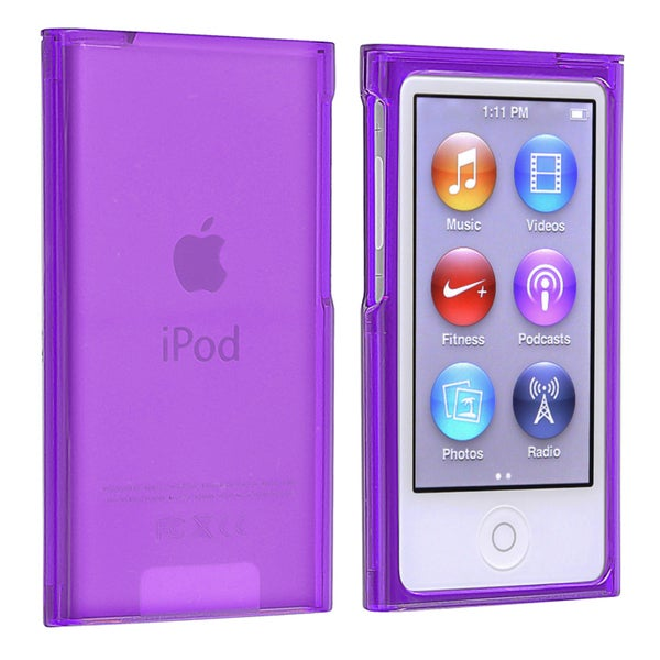 INSTEN Clear Purple Snap-on Slim iPod Case Cover for Apple iPod Nano Generation 7