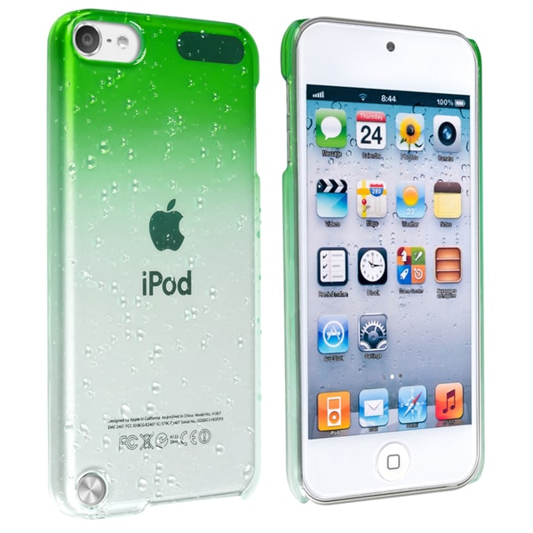 BasAcc Clear Green Waterdrop Case for Apple iPod Touch Generation 5