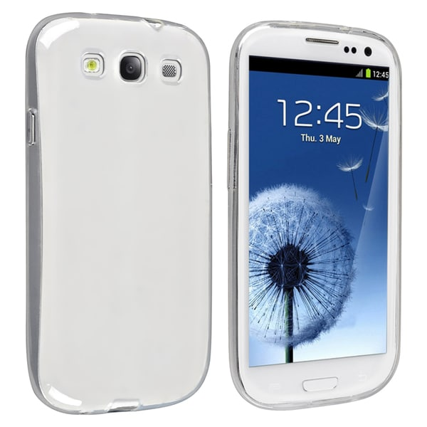 INSTEN Clear TPU Rubber Phone Case Cover for Samsung Galaxy S III/ S3 i9300