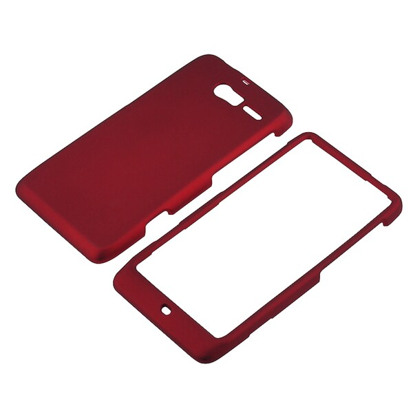 BasAcc Red Snap-on Rubber Coated Case for Motorola Droid Razr M XT907