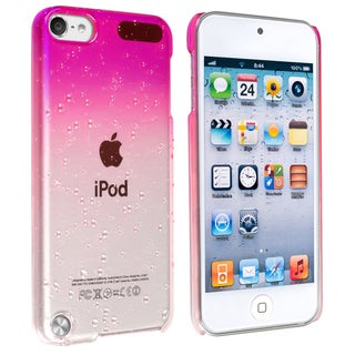 Insten Hot Pink Clear 3D Waterdrop Hard Snap-on Glossy Case Cover For Apple iPod Touch 5th/ 6th Gen