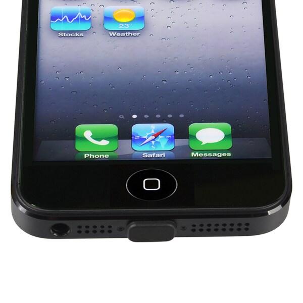 INSTEN Black Lightning Plug Cap for Apple iPhone 5/ 5S/ SE/ 5C/ 6s/ 6 Plus/ iPad Pro/ Mini/ iPod Touch/ iPod Nano 7th Gen
