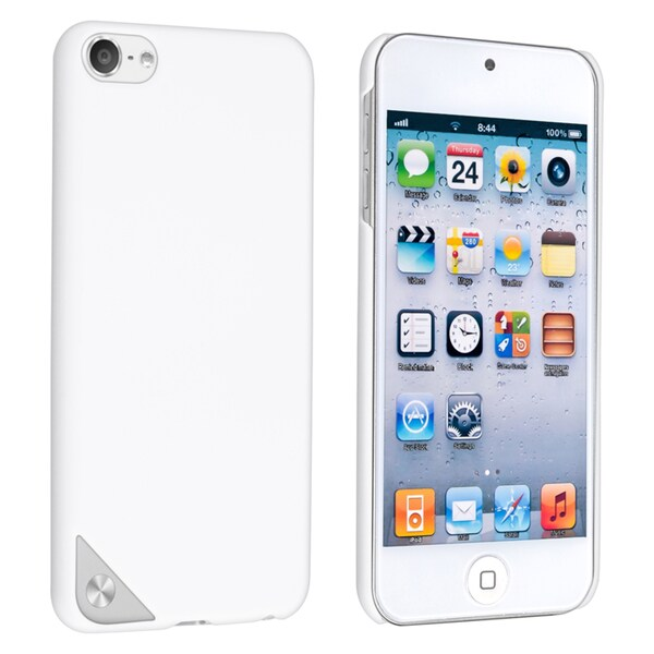 Insten White Hard Snap-on Rubberized Matte Case Cover For Apple iPod Touch 5th/ 6th Gen