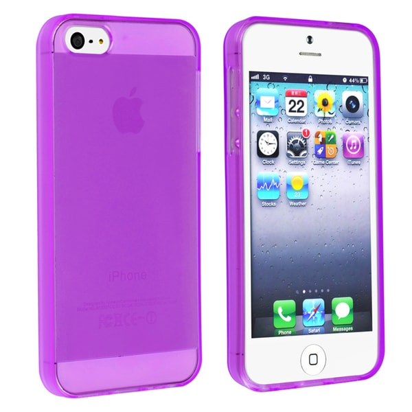 BasAcc Clear Purple TPU Case for Apple iPhone 5