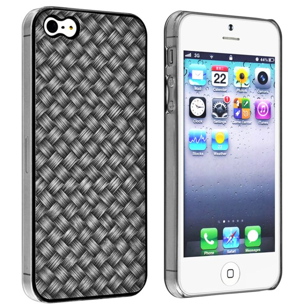 INSTEN Black Twill Snap-on Phone Case for Apple iPhone 5/ 5S/ 5C/ SE