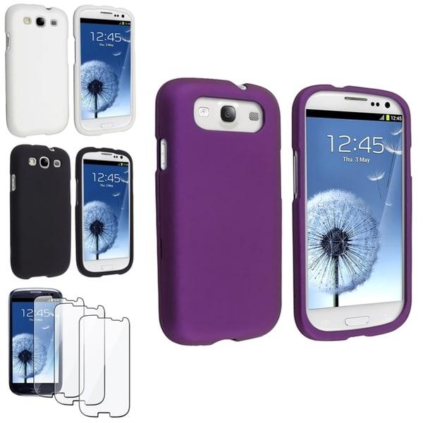 BasAcc Black/ Purple Case/ Screen Protector for Samsung© Galaxy S3