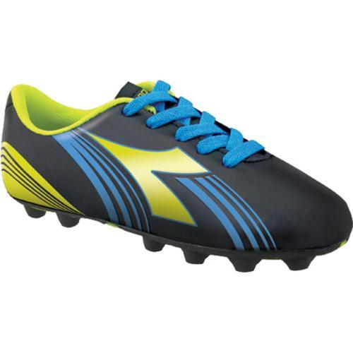 Boys' Diadora Avanti MD JR Black/Fluorescent Yellow/Blue