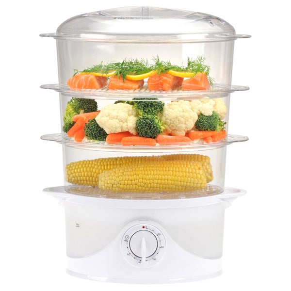 Kitchen Living Food Steamer: Kalorik 3-tier Food Steamer