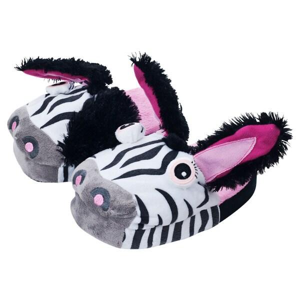 Silly Slippeez Children's 'Zany Zebra' Slippers