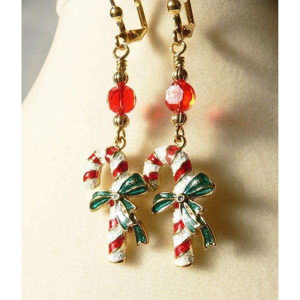 Candy Cane' Dangle Earrings