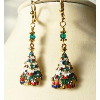 Palmtree Gems 'Christmas Tree' Dangle Earrings