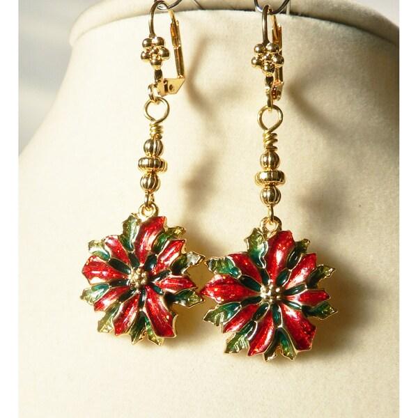 'Poinsettia' Dangle Earrings