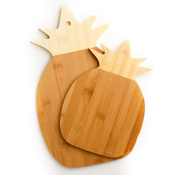 Cooks Corner 100-percent Real Bamboo Pineapple Shaped Cutting Board (Set of 2)