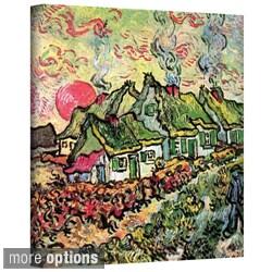 Vincent van Gogh 'Cottages Reminiscent of North' Wrapped Canvas Art