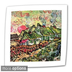 Vincent van Gogh 'Cottages Reminiscent of North' Flat Canvas Art