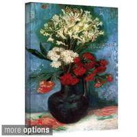 Vincent van Gogh 'Vase With Carnations and Other Flowers' Wrapped Canvas Art - Multi