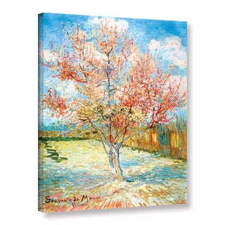 Vincent van Gogh 'Pink Peach Tree' Wrapped Canvas Art