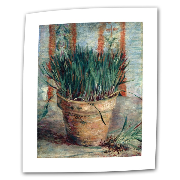 Vincent van Gogh 'Chives' Flat Canvas Art