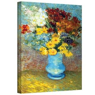 Vincent van Gogh 'Flowers in Blue Vase' Wrapped Canvas Art