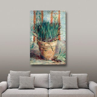 Vincent van Gogh 'Chives' Wrapped Canvas Art