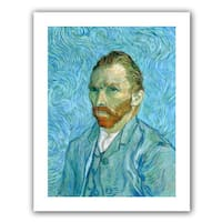 Vincent van Gogh 'Self Portrait' Flat Canvas Art