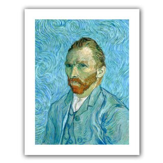 Vincent van Gogh 'Self Portrait' Flat Canvas Art